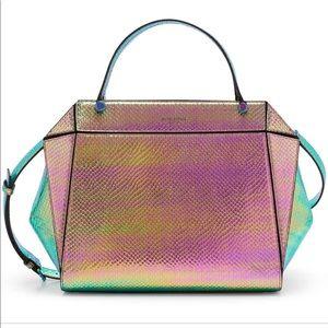 henri bendel holographic satchel limited edition.